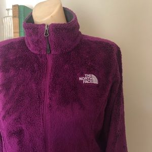 The North Face fuzzy fleece zip up
